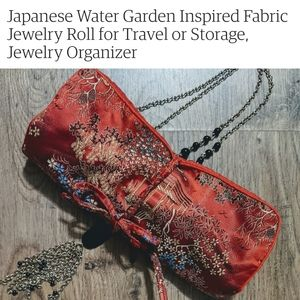 Japanese Style Jewelry Organizer Roll Pouch